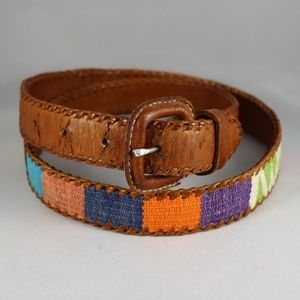 Leather Color Weave Belt Size 32